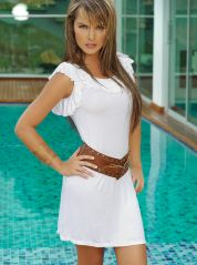 White Maria Bonita Frilly Dress