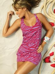 Race Back Animal Print Mini Dress