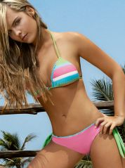 Sophia Stripes Bikini with Frills