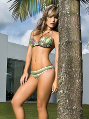 Floral Print and Stripes Green Bikini by Phax