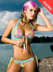 Sweet Heart Halter Thong Bikini by Phax