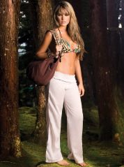 White Cotton Beach Trousers