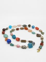 Coco Lush Long Semi-precious Stones Necklace