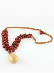 Red Ochra Amazon Necklace by Coco Lush