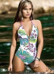 Floral Swimsuit with Rings