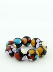 Black & Multicoloured Beded Bracelet