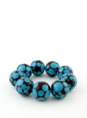 Brown & Blue beded bracelet
