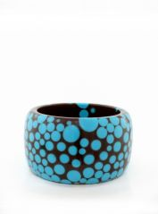 Large Brown & Blue Spots Bangle