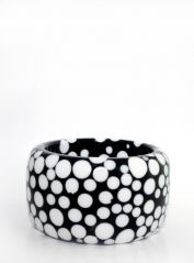 Large Black & White Spots Bangle