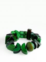 Indiana Jones Dark Green Bracelet by Jackie Brazil