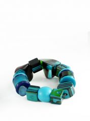 Indiana Jones Light Blue Bracelet by Jackie Brazil