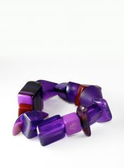 Indiana Jones Purple Bracelet by Jackie Brazil