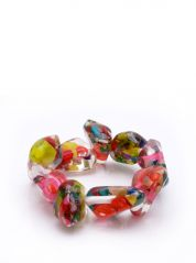 Multicoloured Chips Resin Bracelet By Jackie Brazil