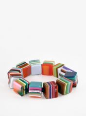 Lliquorice All Sorts Square Beads Elasticated Bracelet