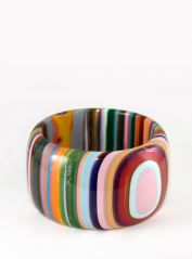 Multicolour Cat eye Striped Bangle