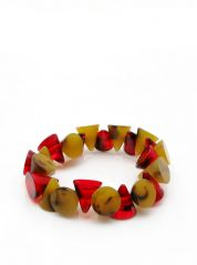 Red Brown Small Cones Elasticated bracelet by Jackie Brazil