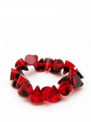 Jackie Brazil Dark Red Small Cones Elasticated Bracelet