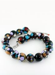 Black & Multicoloured Jackie Brazil Necklace
