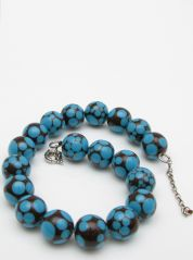 Brown & Blue Jackie Brazil Necklace
