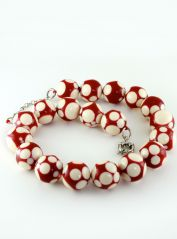 Red & Cream Jackie Brazil Necklace