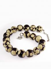 Brown & cream Jackie Brazil Necklace