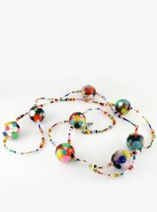 Long Multicoloured Spots Necklace