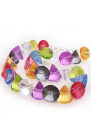 Multicoloured Large Cones Necklace by Jackie Brazil