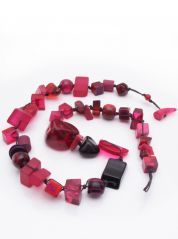 Indiana Jones Long Dark Pink Necklace