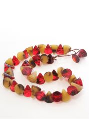 Red and Brown Small Cones Necklace by Jackie Brazil
