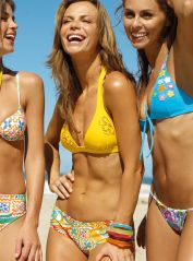 Yellow Mix Match Bikini With Embellishment