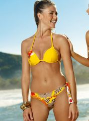 Mix & Match Bikini with Flower Appliqué