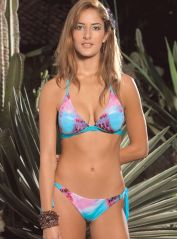 Spanish Cut Tie-Dye Triangle Bikini