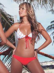 Sensual Red & White Polka Dots Bikini