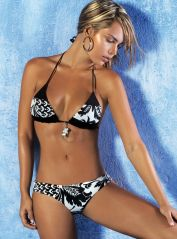 Black & White Triangle Bikini with Pendant