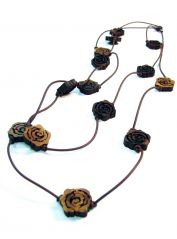 Multi Strands Roses Necklace by Zoia